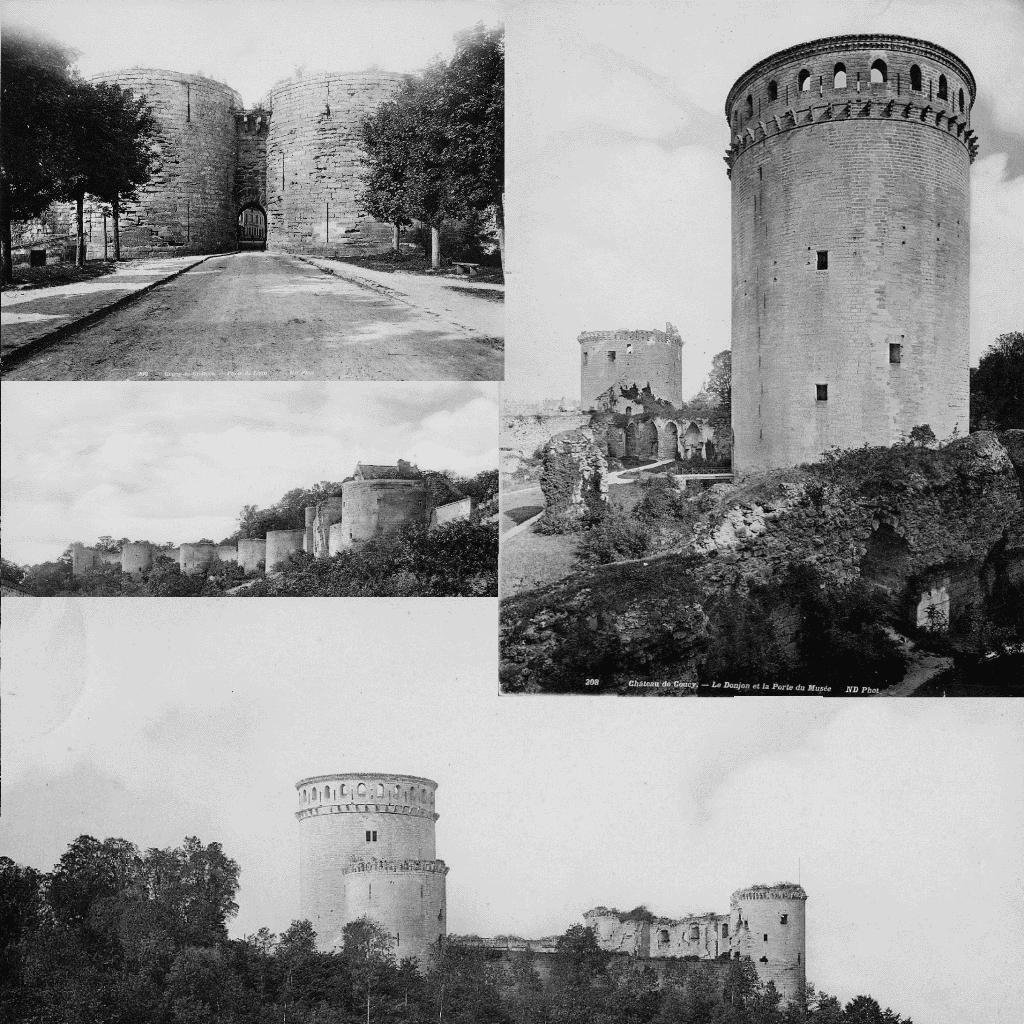 Photos du site de Coucy avant guerre